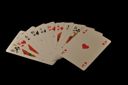 Skatkarten legen lernen große tafel
