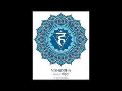 Halschakra Vissudha (741 Hz) Aktivierung & Reinigung Foto: © Fifth chakra illustration vector of Vishudda - Vektorgrafik @ Shutterstock